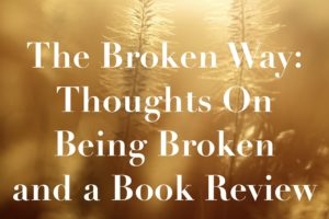 The Broken Way: Thoughts on Being Broken and a Book Review
